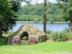 Bread oven with lake in the background