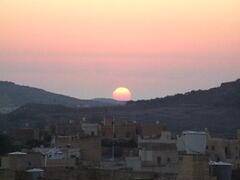 Enjoy the lovely sunset from the back terrace