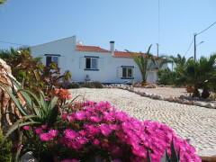 view across garden to villa