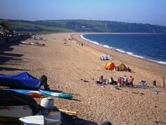 Slapton Sands, three miles of beautiful pebble beach. Next to Slapton Leigh and the WW2 memorial tank.
