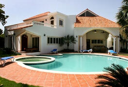 Property Photo: This villa  has an excellent location near the beach, in Cabarete