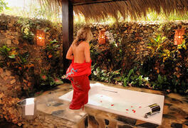 View of Jacuzzi in tiki hut