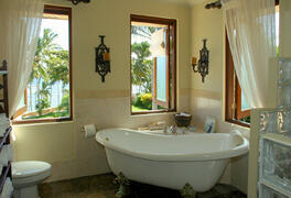 View of the classic antique bathtub