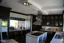 Professional gourmet kitchen