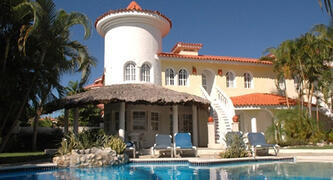 Property Photo: This Cofresi villa is a top rental with an excellent location and Caribbean style