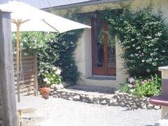 Property Photo: The private terrace of La Petite Grange