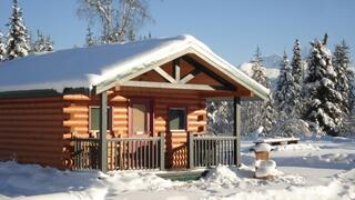 Property Photo: Cabin in Winter at Canadian Country Cabins