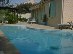 Property Photo: private pool with walk in 'roman end'