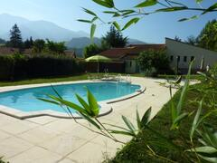 Property Photo: L'Oiseau Chantant, private swiming pool with beautiful mountain views