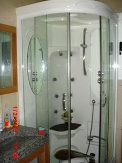 bathrooms totally equiped with hydrotherapy shower and towel-heaters