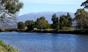 Views to Mt Wellington from Lauderdale Canal.