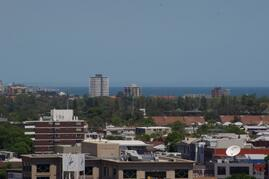 Views to Port Phillip Bay from bedroom and balcony
