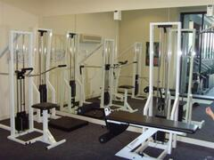 well-equipped small gym