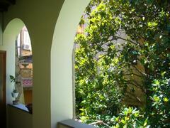 patio in fron of the door, first floor