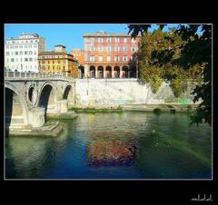 250 steps from home:ponte sisto on river tevere