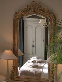 Luxury bedroom with seaviews