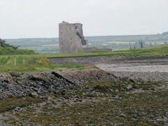 Carrigafoyle Castle just a walk across the beach from Littor Cottage