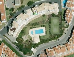pool garden tennis court