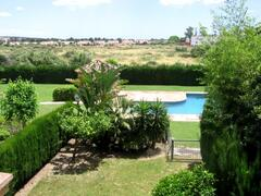 View from bedrooms of gardens & pool
