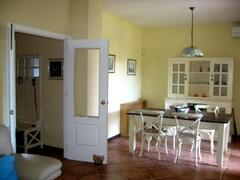 Dining Room leading to hall and outside terrace