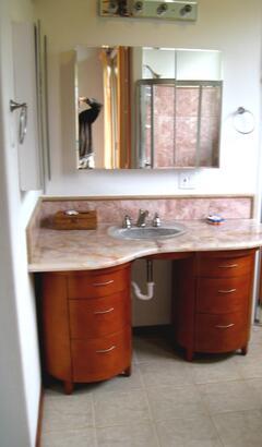 onyx custom bathroom vanity