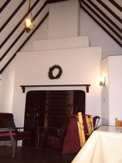 Chimney breast and vaulted ceiling