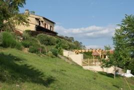 Property Photo: La Pomarede with pool below