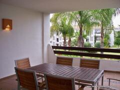 Spacious terrace overlooking the gardens and pool.  http://www.selwohillsapartments.com/