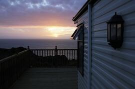 Property Photo: Caravan at sunset