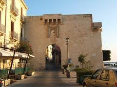 the ancient door - 50 meters away