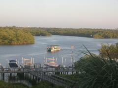 Property Photo: view of Tarpon Bay and Cocahatchee River from Apartments lanai