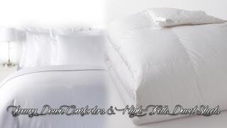 Deluxe Down Comforters & High Frette Duvet Sheets