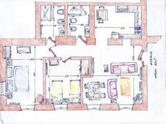 The layout of apartment Vettore