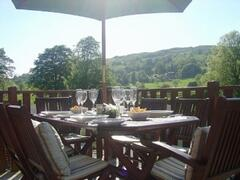 What better place to enjoy a meal whilst admiring the beauty of Troutbeck Valley