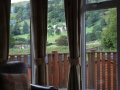Rain or shine, the views are amazing from the lodge. Just relax with a cuppa and watch the world go by