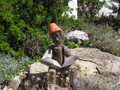 One of our wooden men that reside in the garden