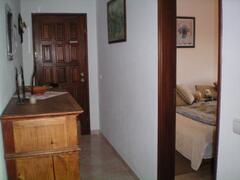 hall and bedroom