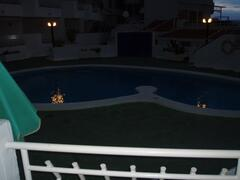 night time view of pool from our balcony