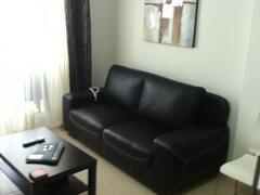 NEW 3 LEATHER SEATER SOFA