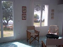 the suite has a direct door into the garden