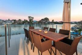 Property Photo: Outdoor dining w/ a view