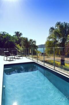 Enjoy the Private pool under the sun with secured fence