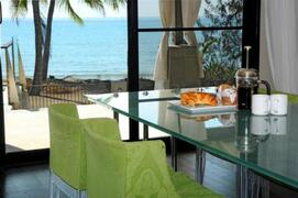 Dining area which has fantastic views over water