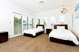 Fully furnished bedroom with pillow-top