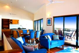 Open Plan Kitchen, Lounge & Dining Leading Out To Spacious Ocean View Dining & Sunbaking Deck