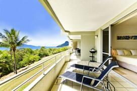 Large Spacious Balcony with Outdoor Dining, BBQ and Sun Lounges