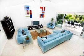 Very Spacious Main Lounge Room With High Ceilings, Large Screen TV