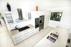 Dishwasher, Large Gas Stove, Oven, Microwave, Cutlery, Glassware, Crockery and Cookware