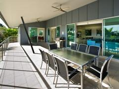 Large Deck With Outdoor Dining And Family Sized Gas BBQ