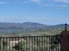 View of lake Vinuela from villa